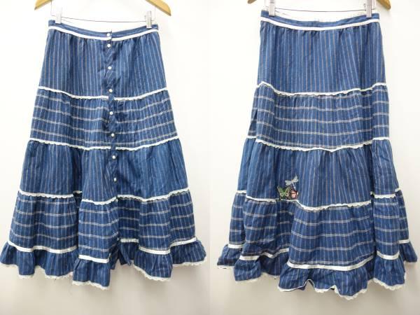 ガニーサックスGUNNE SAX70sビンテージロングスカート【13】レトロ衣装_画像1