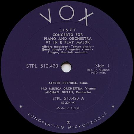 《LPレコード》 リスト (LISZT) : ピアノ協奏曲 第1番 変ホ長調 + ピアノ協奏曲 第2番 イ長調 / ALFRED BRENDEL (Piano) [米盤]_■ ミヒャエル・ギーレン : 指揮
