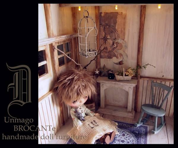 空き家物件*山小屋風1/6ドールハウス/撮影ディスプレイ/フレンチシック/アンティーク風/momoko/ブライス