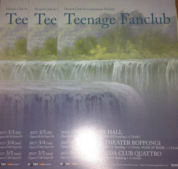 teenage fanclub ティーンエイジ 横浜 東京 大阪 チラシ