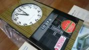 (動作OK) 超貴重なデットストック 愛知時計 アイクロン トランジスター掛時計 (動画有!)  昭和レトロ 柱時計 未使用品 アンティーク
