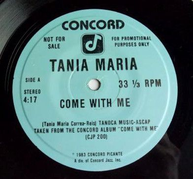 MURO【USA プロモ7インチ】TANIA MARIA / COME WITH ME 【SOUL / LATIN JAZZ】_画像2