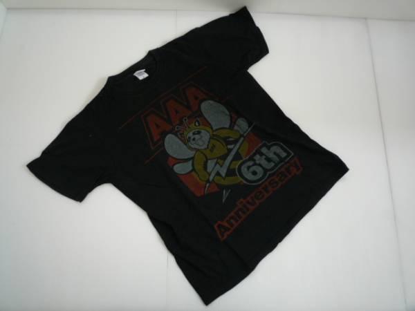 【お買い得!】 ☆ トリプルエー / AAA ☆ ライブTシャツ 黒 半袖 イラスト Mサイズ (HK26L032)