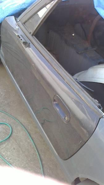 木村自動車商会 スズキカプチーノ 激レア! 軽量カーボンファイバー製ドアパネル中古 アクリルガラス付 EA11R/EA21R