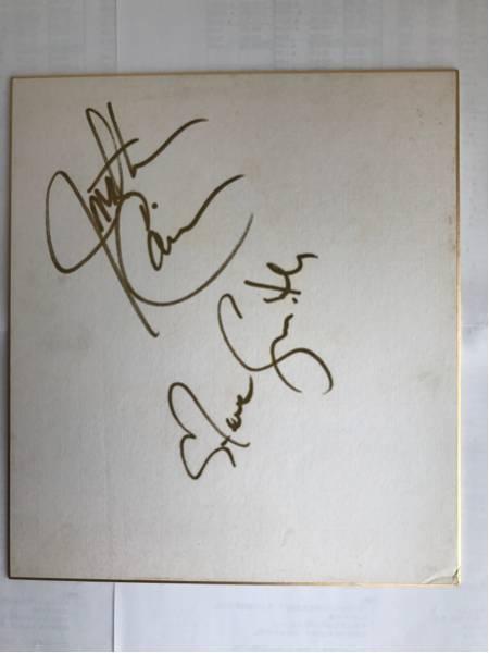 ♪ジャーニー/ジョナサン・ケイン+スティーヴ・スミス直筆サイン入り色紙/83年来日時♪2017年セットリストのコピー+生写真付♪JOURNEY♪