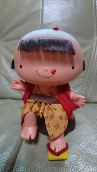超激レア!希少!資料価値!亀田製菓!企業物!キャラクター!人形!当時物!ビンテージ!ソフビ人形!カラクリ!からくり下駄!飛ばし_画像1