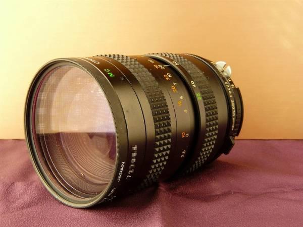 ニコン用、CIMKO MT 1:3.5-4.3 f=35-100mmズーム、レンズフィルター付き、形のいいズームレンズです。