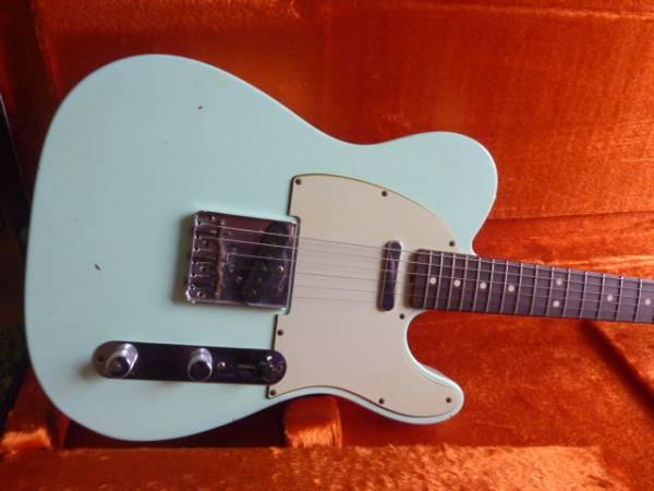 ★極美品 Fender Custom Shop 1963 テレキャスター Journeyman Relic Faded Surf Green 保証残あり 送料無料★