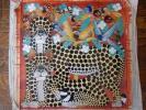 ●アフリカの絵画、ティンガティンガ、ズベリ、チーター赤、送料込!!