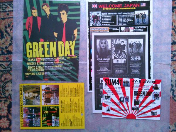 2005 GREEN DAY グリーン・デイ 来日公演 チラシ 他
