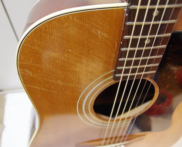 70s 激レア!chaki W-40 FISHMANピエゾ搭載 エレアコ仕様 トップ単板!GIBSON J-50モデル・チャキ 都内手渡し歓迎 アコースティックギター
