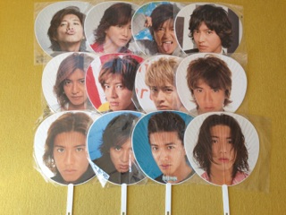 【SMAP】ジャンボうちわ 木村拓哉 まとめて 12枚 コングッズ コンサートグッズの画像
