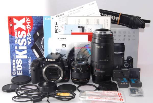 ●付属多数● Canon キャノン EOS Kiss X 純正&超望遠Wレンズ