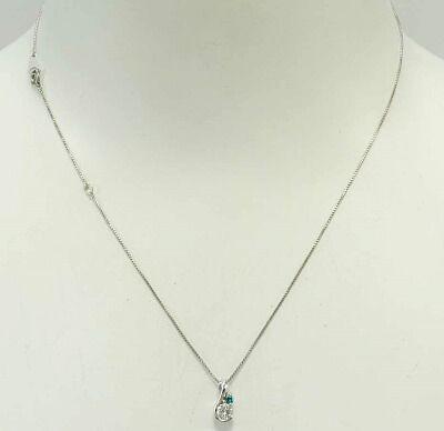 Pt プラチナ ブルーダイヤ ネックレス 【n63】_画像1