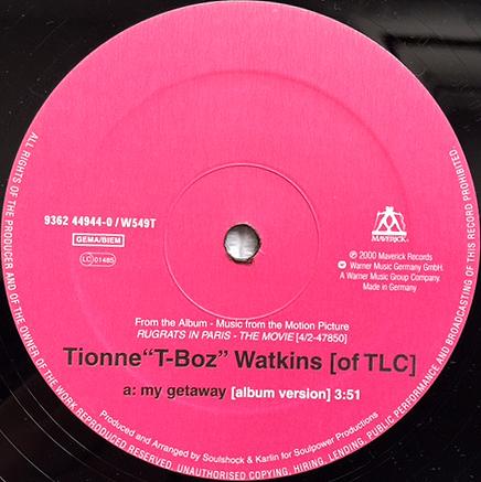 ★Tionne T-Boz Watkins「my getaway」12インチ/2000年US盤★_画像3