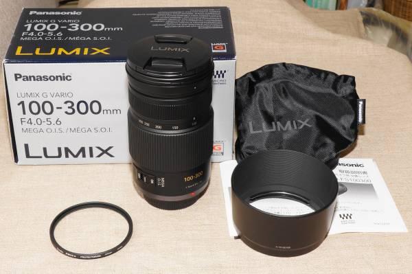 極上美品 Panasonic LUMIX G VARIO 100-300mm F4.0-5.6 MEGA O.I.S. H-FS100300
