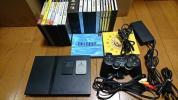 ★薄型PS2本体scph-70000とソフト大量20本まとめて★現状処分 FFコレクション ドラクエ モンスターファーム 信長の野望等