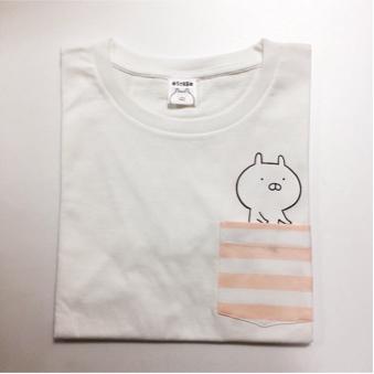 ♪ ロフト限定&完売品 うさまる ポケットTシャツ 白 新品タグ付未開封品 ♪ グッズの画像