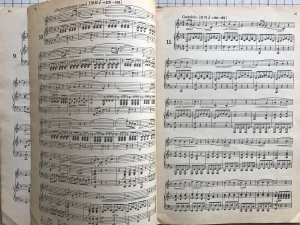 『コンコーネ五十番 中声練習』Giuseppe Concone 原著 新興音楽出版社 1950年刊 0154_『コンコーネ五十番 中声練習』 内部