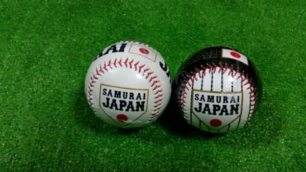 侍ジャパン記念サイン用ボール&記念ロゴ球2球セットWBC日本代表 グッズの画像