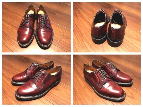 美品Loakeロークプレーンダービー英国靴トリッカーズカントリーUK6.5シャノンメンズシューズ