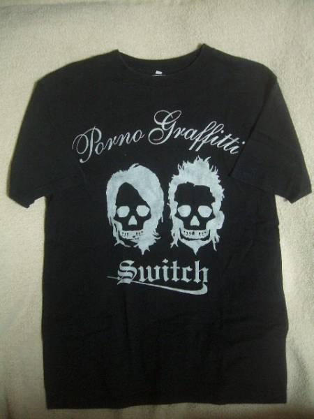 貴重 05年 Porno Graffitti/ポルノ グラフィティ SWITCH ツアーTシャツ 黒 L