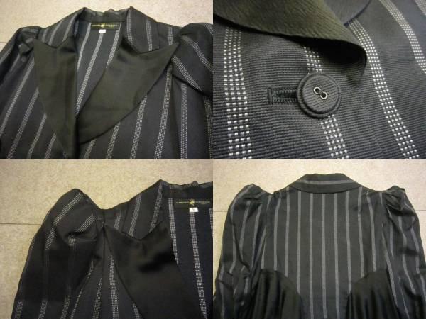【ヒロコ コシノ HIROKO KOSHINO】パフスリーブ デザインジャケット 9 KS1078F_画像3