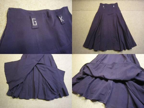 美品【伊太利屋】巻きスカート風フレアスカート 11 パープル KS1084F_画像3
