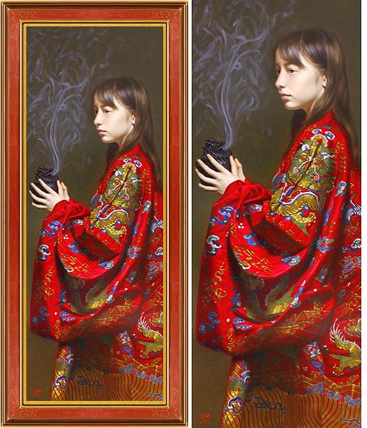 真作保証 古吉弘40号少女Christie'sで5号が1千万円!ため息のでる美しさ最高傑作国内で入手不可能リアリズム国際的巨匠