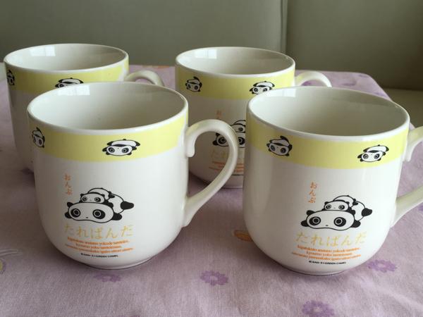 未使用【レトロ】たれぱんだ★マグカップ*4個セット◎日本製 グッズの画像