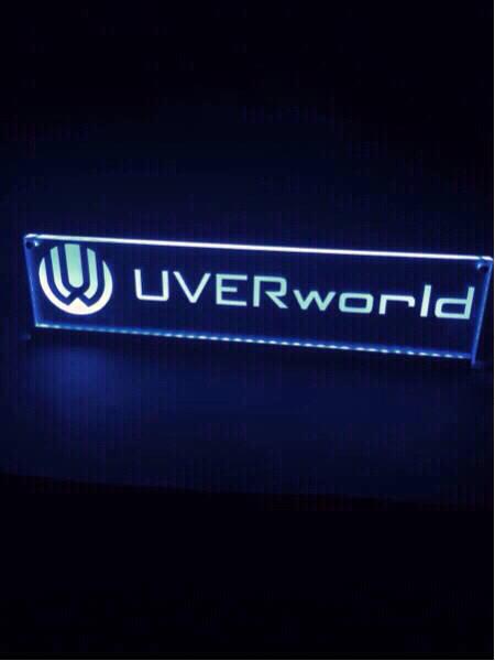 光る プレート 20色発光 ステッカー UVERworld ライブグッズの画像