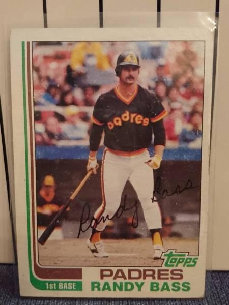 激レア!Randy Bass ランディ・バース 元阪神タイガース 史上最強助っ人外国人 MLB時代 メジャーリーグ サンディエゴ・パドレス TOPPS 1982 グッズの画像