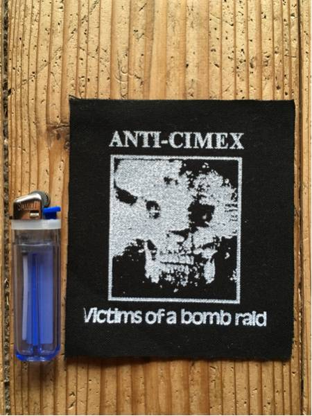 ANTI CIMEX / 布パッチ punk hardcore crust discharge shitlickers mob47