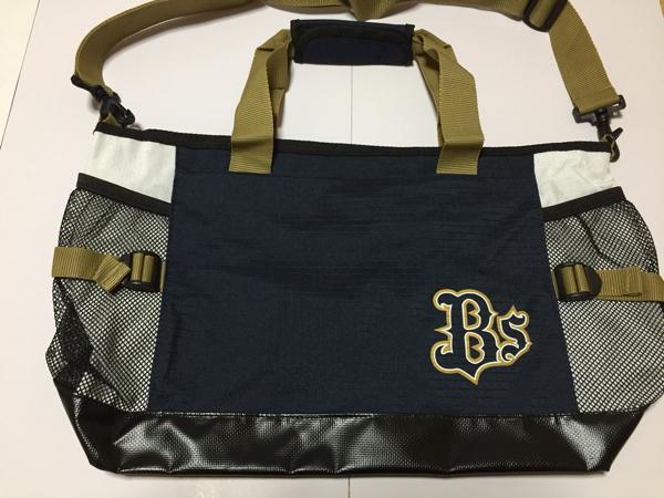 オリックスバッファローズ バッグ 未使用品 美品 トートバッグ ショルダーベルト付き グッズの画像