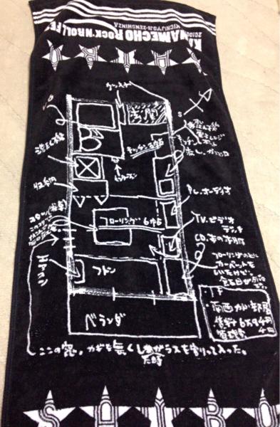 サンボマスター ライブ グッズ マフラータオル 新品 2010.01.10