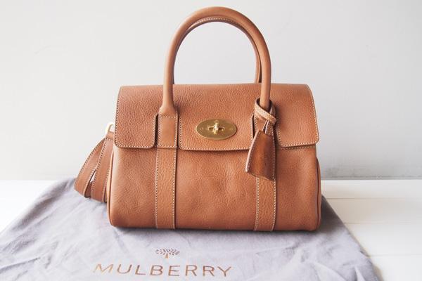 新品|未使用|マルベリー|MULBERRY|2WAYハンド/ショルダーバッグ BAYSWATER ベイズウォーター small Oak Natural Leather
