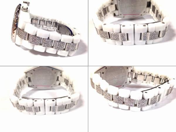 CHANEL シャネル j12 41mm クロノグラフ ベゼル ベルト15駒作製 アフターダイヤ加工します 38 クロマティック パヴェ 9PH2544 H0683 H0950_画像3