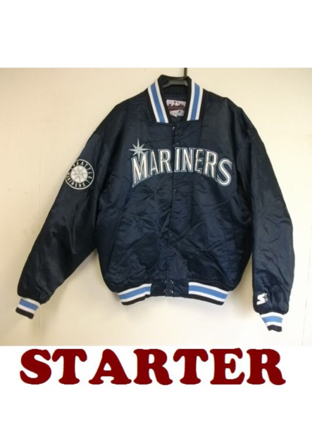 <値下げ>STARTER MLB シアトルマリナーズ 中綿ナイロンスタジャン 紺M グッズの画像