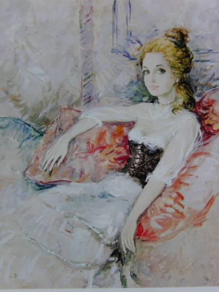 B・シャロワ、クッション、日本未発売・限定画集画、額付
