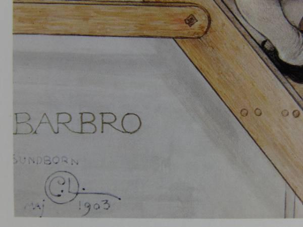 カール・ラーション、バルブロー、希少画集画、新品額装付、状態良好_画像2