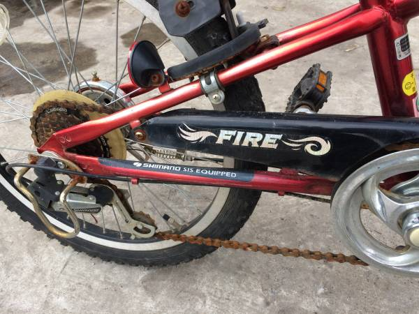 お届け自転車 配達、引き取り、どちらも歓迎!! 変速付き キッズ クロスバイク FIRE 20in ベース車 ジャンク車 レストア車_画像2