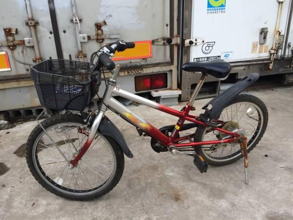 お届け自転車 配達、引き取り、どちらも歓迎!! 変速付き キッズ クロスバイク FIRE 20in ベース車 ジャンク車 レストア車_画像3