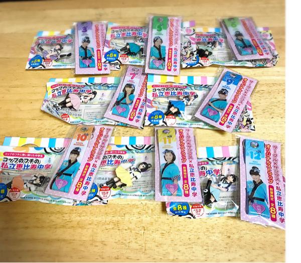 【非売品】私立恵比寿中学オリジナルストラップ&フチ子さん 全種類 サークルKサンクス限定 ライブグッズの画像