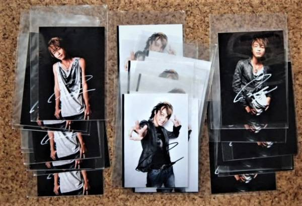 徳山秀典さん 生写真330g サイン入り25枚あり