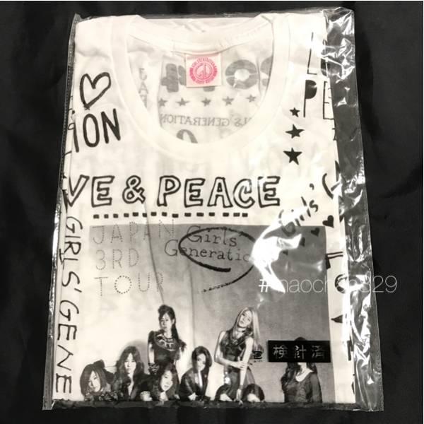 少女時代 Japan3rdTour Tシャツ Mサイズ 未開封 ホワイト/テヨン ジェシカ ユナ ティファニー CD DVD Blu-ray タオル phantasia コンサートグッズの画像