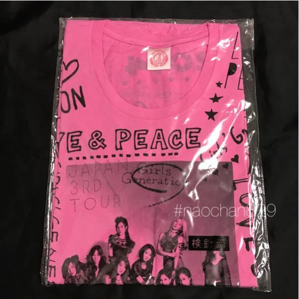 少女時代 Japan3rdTour ピンク Tシャツ 未開封 Mサイズ テヨン ジェシカ ユナ ティファニー/CD DVD Blu-rayサイン トレカ タオル スヨン コンサートグッズの画像
