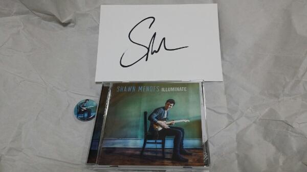 ショーンメンデス「イルミネイト」CD+直筆サインと缶バッジ