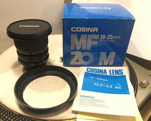 ★★箱付、M42★COSINA 19-35MM F3.5-4.5 MC MF ZOOM レンズ PS