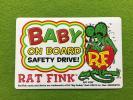 Rat Fink ラットフィンク 赤ちゃんが乗っています シール ステッカー デカール Baby on Bord ドライブサイン mooneyes ムーンアイズ