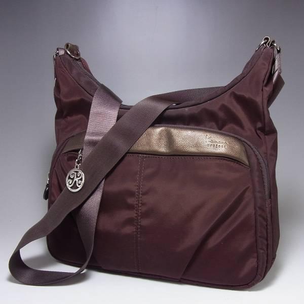 ●カナナ/Kanana project ショルダーバッグ 2WAY ハンドバッグ ナイロン ボルドー 斜めがけ 良品